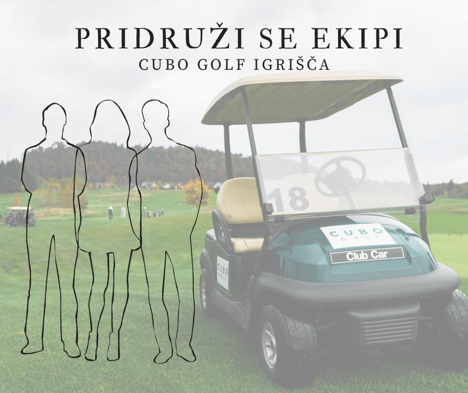 Pridruži se ekipi CUBO GOLF