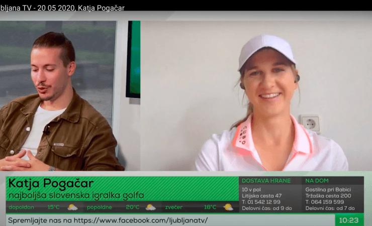 Katja Pogačar na Ljubljana TV
